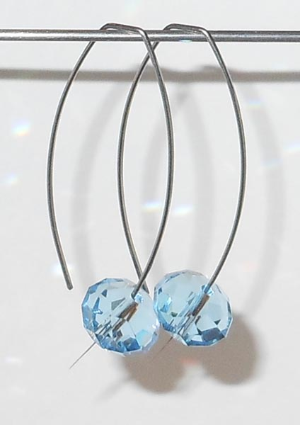 HYPOALLERGENIC CRYSTAL EARRINGS - Pure Titanium Earrings for